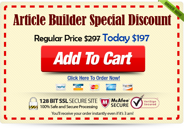 article builder discount