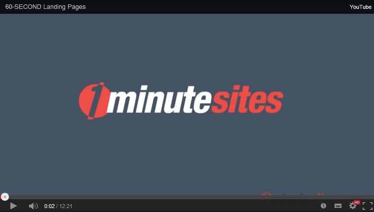 1minutesites video