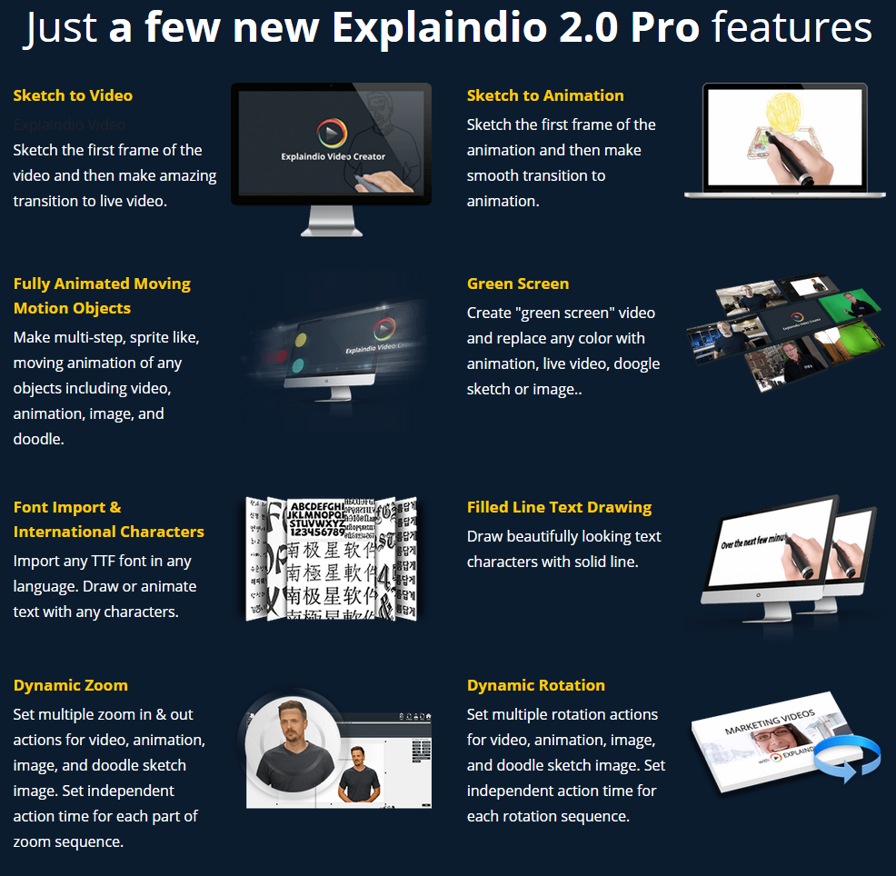 explaindio 2 features