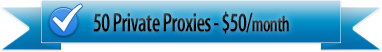 50 private proxies